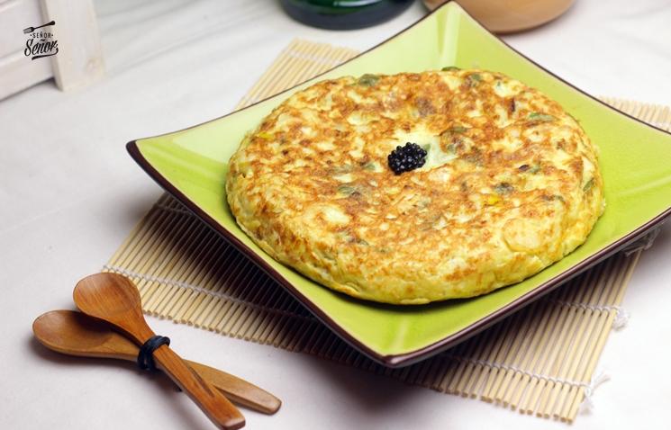 Receta tortilla de bacalao